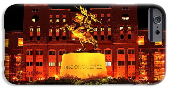 Universities Digital iPhone Cases - Chief Osceola and Renegade Unconquered iPhone Case by Frank Feliciano