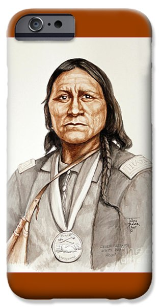 Orator Paintings iPhone Cases - Chief Satanta iPhone Case by Art By - Ti   Tolpo Bader