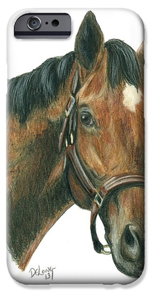 Horse Racing iPhone Cases - Chiefs Crown iPhone Case by Pat DeLong