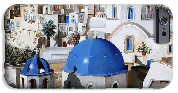 Greek iPhone Cases - Chiese Ortodosse iPhone Case by Guido Borelli