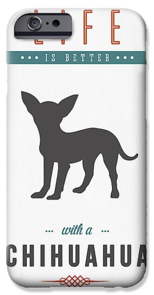 Cute Puppy iPhone Cases - Chihuahua 01 iPhone Case by Aged Pixel