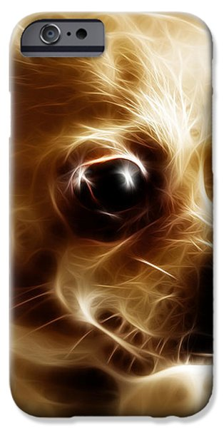 Chihuahua Dog - Electric iPhone Case by Wingsdomain Art and Photography