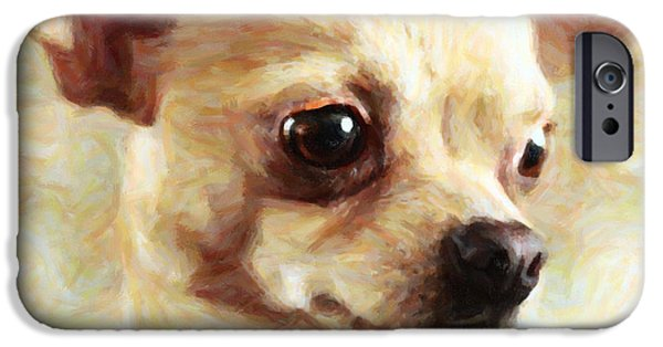 Chiwawa iPhone Cases - Chihuahua Dog - Painterly iPhone Case by Wingsdomain Art and Photography