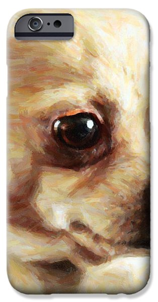 Chihuahua Dog - Painterly iPhone Case by Wingsdomain Art and Photography