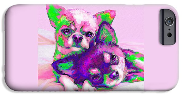 Chiwawa iPhone Cases - Chihuahua Love iPhone Case by Jane Schnetlage