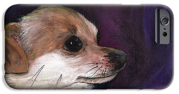 Chiwawa iPhone Cases - Chihuahua Puppy Dog iPhone Case by Penny Stewart