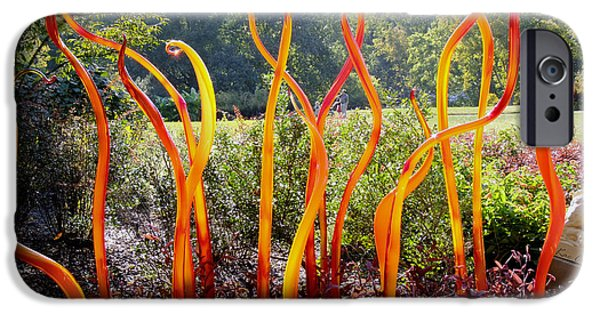 Garden Scene Photographs iPhone Cases - Chihuily at Cheekwood iPhone Case by Kae Cheatham