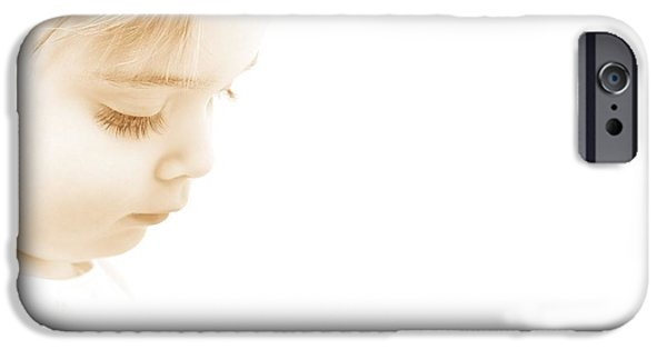 Thinking iPhone Cases - Child Looking Down iPhone Case by Chris and Kate Knorr
