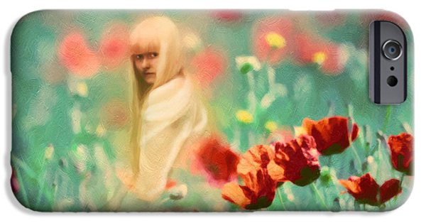 Innocence Mixed Media iPhone Cases - Child Of Innocence iPhone Case by Georgiana Romanovna