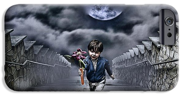 Allegory iPhone Cases - Child Of The Moon iPhone Case by Joachim G Pinkawa