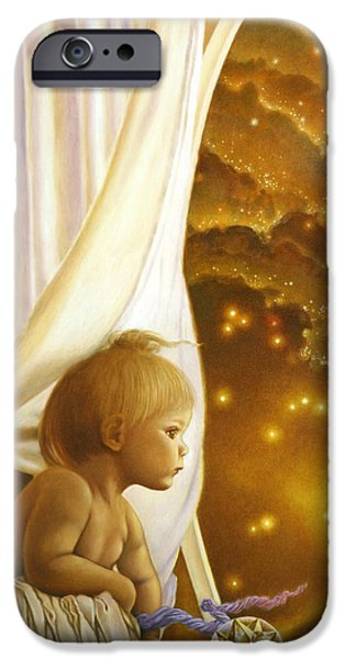 Innocence Paintings iPhone Cases - Child of Wonder iPhone Case by Michael Z Tyree