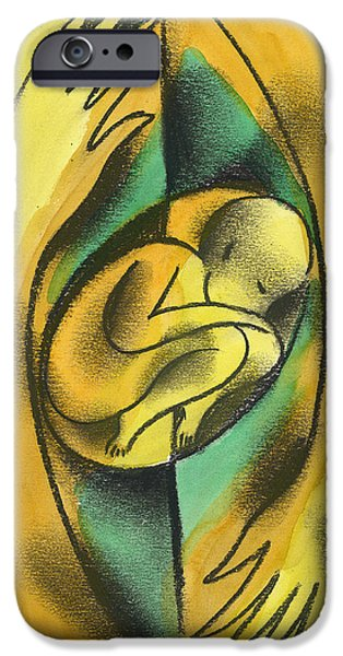 Bonding iPhone Cases - Childbirth iPhone Case by Leon Zernitsky