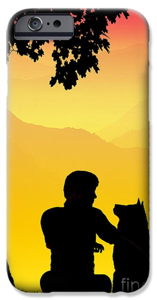 Innocence iPhone Cases - Childhood dreams 4 Best Friends iPhone Case by John Edwards