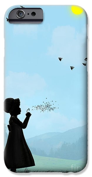 Innocence iPhone Cases - Childhood dreams One O Clock iPhone Case by John Edwards