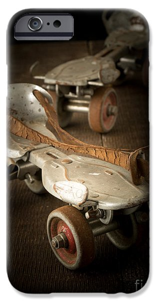 Roller Skates iPhone Cases - Childhood Memories iPhone Case by Edward Fielding