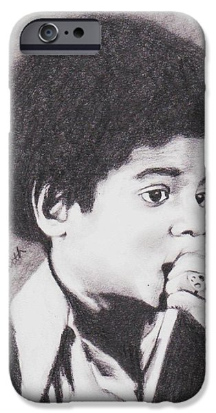 Michael Jackson Sketch iPhone Cases - Childlike iPhone Case by Cassandra Allsworth