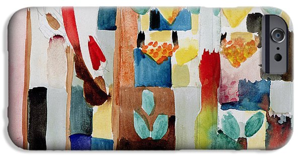 Abstract Expressionist iPhone Cases - Children at the Greengrocers I iPhone Case by Franz Marc