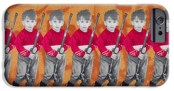 Israeli iPhone Cases - Children Of War, Children Of Peace, 1996 Silkscreen On Canvas See Also 279271 iPhone Case by Laila Shawa