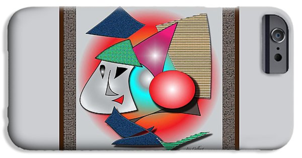 Abstract Digital Drawings iPhone Cases - Childs introduction to Picasso iPhone Case by Iris Gelbart