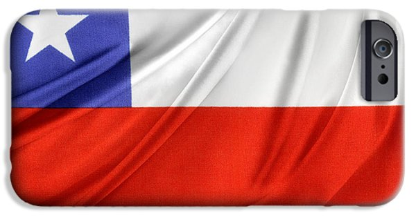 Flag iPhone Cases - Chile flag  iPhone Case by Les Cunliffe