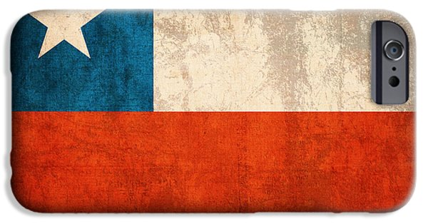 Chile iPhone Cases - Chile Flag Vintage Distressed Finish iPhone Case by Design Turnpike
