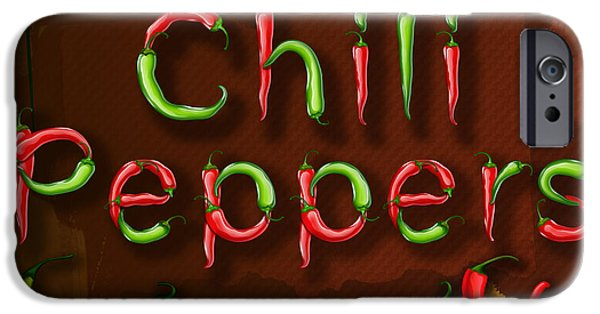 Recently Sold -  - Crops iPhone Cases - Chili Peppers iPhone Case by Bedros Awak