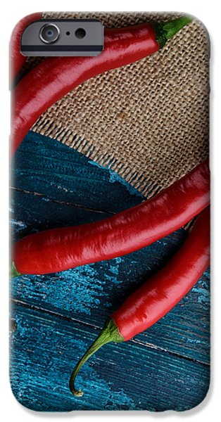 Chilli iPhone Cases - Chili Peppers iPhone Case by Nailia Schwarz