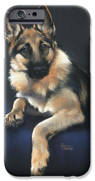 Animal Cards Pastels iPhone Cases - Chilli iPhone Case by Cynthia House