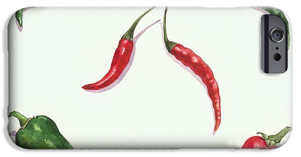 Chilli iPhone Cases - Chillies and Peppers iPhone Case by Alison Cooper