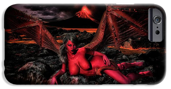 Night Angel iPhone Cases - Chillin in Hades iPhone Case by Todd and candice Dailey