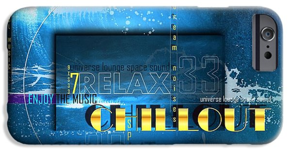 Sound Mixed Media iPhone Cases - Chillout iPhone Case by Franziskus Pfleghart
