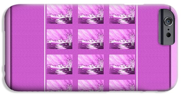 Evening Tapestries - Textiles iPhone Cases - Chilly Winter Evening iPhone Case by Barbara Griffin