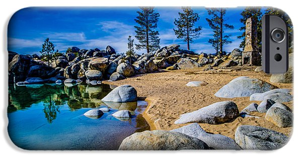 Chimney iPhone Cases - Chimney Beach Lake Tahoe iPhone Case by Scott McGuire
