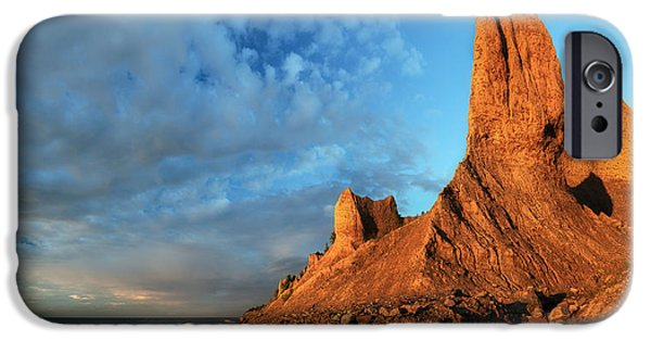 Colorful Cloud Formations iPhone Cases - Chimney Bluffs 2 iPhone Case by Mark Papke