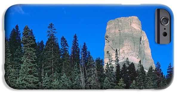 Stately iPhone Cases - Chimney Peak In Uncompahgre National iPhone Case by Panoramic Images