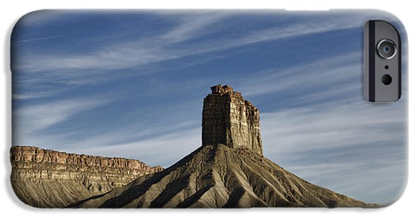 David iPhone Cases - Chimney Rock Butte SW CO iPhone Case by Dave Gordon