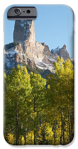 True Grit iPhone Cases - Chimney Rock - Colorado  iPhone Case by Aaron Spong