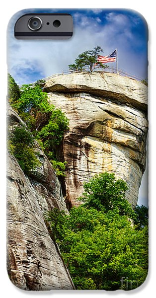 Flag iPhone Cases - Chimney Rock iPhone Case by Robert Hainer
