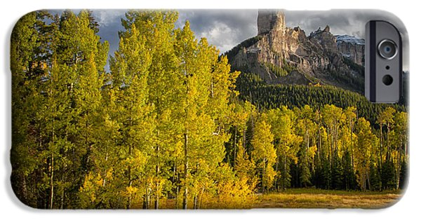 True Grit iPhone Cases - Chimney Rock San Juan NF Colorado IMG 9722 iPhone Case by Greg Kluempers