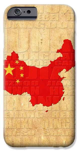 Flag iPhone Cases - China iPhone Case by Andrew Fare