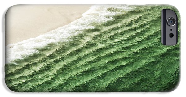 Famous Highway 1 In California iPhone Cases - China Beach Wave iPhone Case by Artist and Photographer Laura Wrede