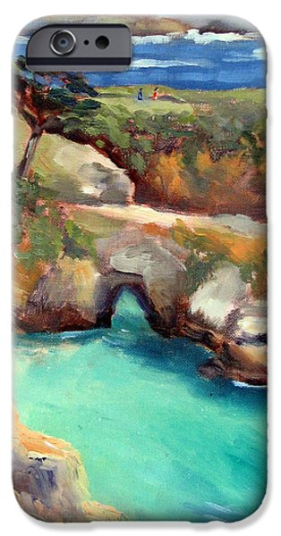 Point Lobos State iPhone Cases - China Cove Point Lobos iPhone Case by Karin  Leonard