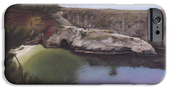 Big Sur Ca iPhone Cases - China Cove iPhone Case by Terry Guyer