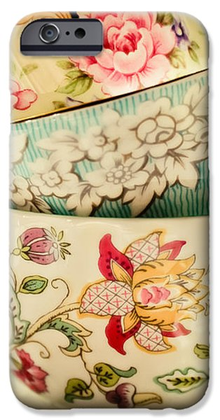 Tea Party iPhone Cases - China Cups iPhone Case by Colleen Kammerer