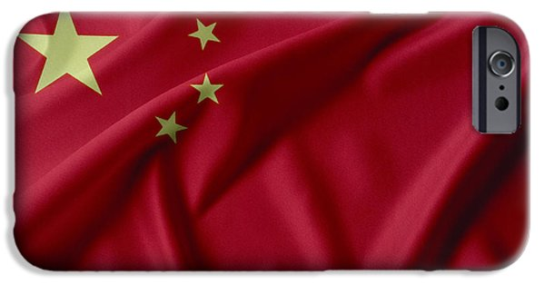 Flag iPhone Cases - China flag  iPhone Case by Les Cunliffe
