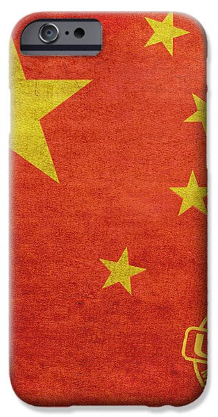 China Flag Made In The USA iPhone Case by Tony Rubino