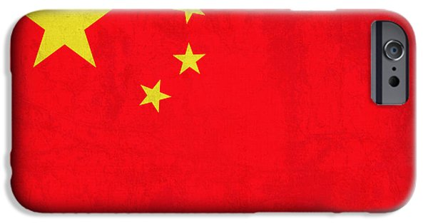 China iPhone Cases - China Flag Vintage Distressed Finish iPhone Case by Design Turnpike