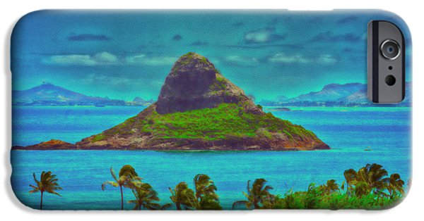 China Beach iPhone Cases - China Mans Hat Island   painted iPhone Case by Cheryl Young