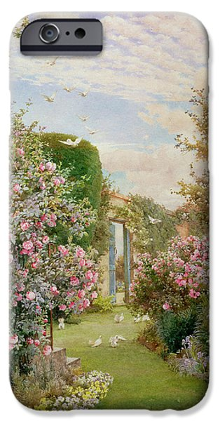 China Roses iPhone Case by Alfred Parsons