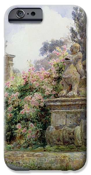 Genoa iPhone Cases - China Roses Villa Imperiali Genoa iPhone Case by George Samuel Elgood